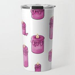 Candle Lit Pattern Travel Mug
