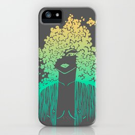 Silhouette gradient of a girl iPhone Case