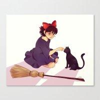 kiki Canvas Prints featuring Kiki by AndytheLemon