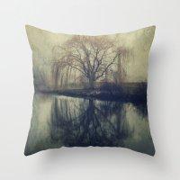 fog Throw Pillows featuring Fog by KunstFabrik_StaticMovement Manu Jobst