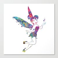 tinker bell Canvas Prints featuring Tinker Bell by Bitter Moon