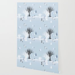 Winter Holiday Fairy Tale Fantasy Snowy Forest Collection Wallpaper