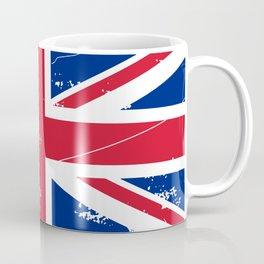 United Kingdom: Distressed Union Jack Flag Coffee Mug