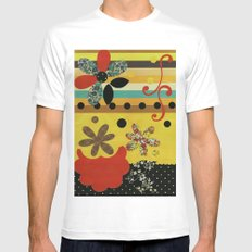 Collage White MEDIUM Mens Fitted Tee