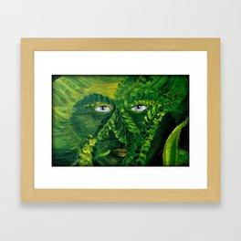 Garden Guardian Hurricane Gnome Framed Art Print