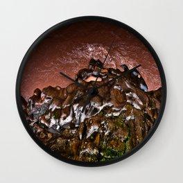 Silky Terrain, Muddy Waters Wall Clock