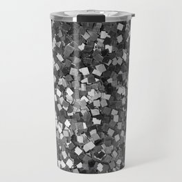 Dazzling Sparkles (Black and White) Travel Mug