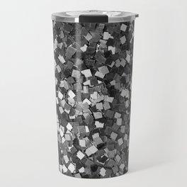 Dazzling Sparkles (Black and White) Travel Mug