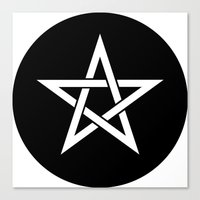 pentagram Canvas Prints featuring Pentagram Ideology by ideology