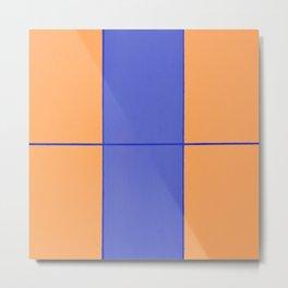 August - Orange and Blue Metal Print