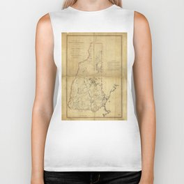 Topographical Map of the Province of New Hampshire (1784) Biker Tank
