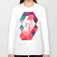 popsicle Long Sleeve T-shirts featuring Watermelon Popsicle by Spires