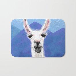 Llama Yama Smiling Bath Mat