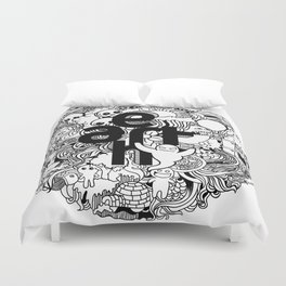 Earth with Art Duvet Cover