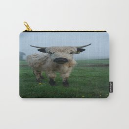 Young White High Park Cattle Carry-All Pouch