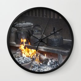 Camp oven Wall Clock