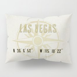 Las Vegas Nevada - Vintage Map and Location Pillow Sham