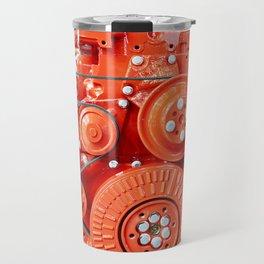 Red diesel engine for truck Travel Mug