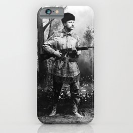 Theodore Roosevelt - Hunting Portrait iPhone Case