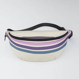 Five Trendy Stripes on White 17 Fanny Pack