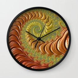 Bronze Twist - Fractal Art Wall Clock