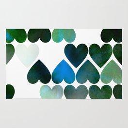Mod Blue Hearts Rug