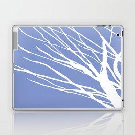 Tree Silhouette Periwinkle Blues Laptop & iPad Skin