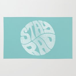 Stay Rad (Turquoise) Rug