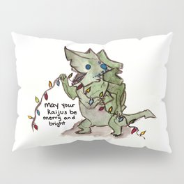 may your kaijus be merry and bright Pillow Sham