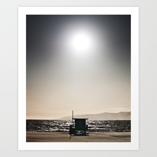 Venice Beach California Guard Tower Art Print