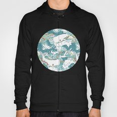 Whales and waves pattern Hoody