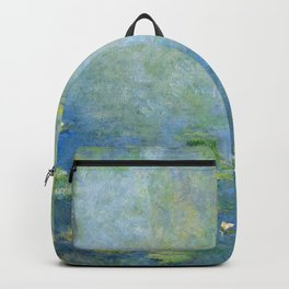 Water Lilies 1906 by Claude Monet Backpack