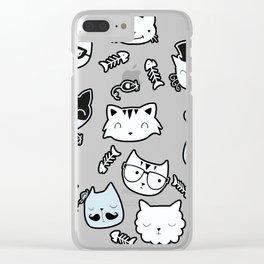 cat gangs Clear iPhone Case