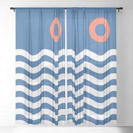 Nautical 03 Seascape Sheer Curtain