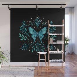 Mystical Luna Moth - Turquoise Wall Mural