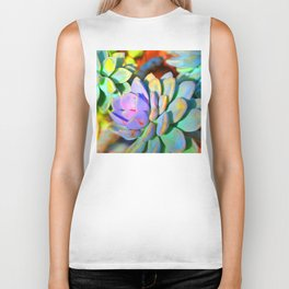 Succulent Color - Botanical Art by Sharon Cummings Biker Tank