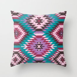 Navajo Dreams - Turquoise Throw Pillow