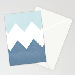 BLUE BLOCK CHEVRON Stationery Cards