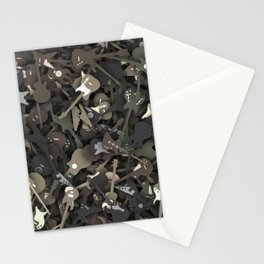 Guitar camouflage Stationery Cards