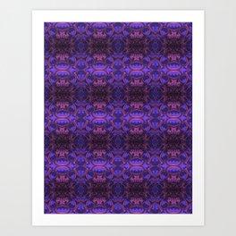 Purple Bloom Pattern Art Print