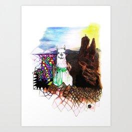 Lama Glama Art Print