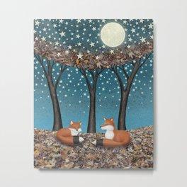 starlit foxes Metal Print