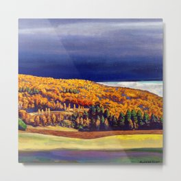 Golden Autumn landscape painting by Rockwell Kent Metal Print