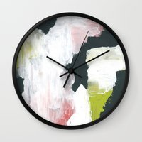 lime Wall Clocks featuring Lime by Bany Hope