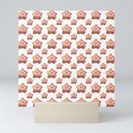 Kirby the Superstar Pattern Mini Art Print