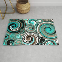 Water Whirlwind Abstract 2 Rug