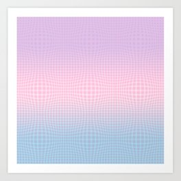 GINGHAM ILLUSION Art Print