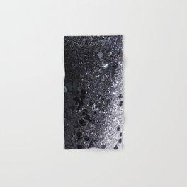 Black and Gray Glitter Bomb Hand & Bath Towel
