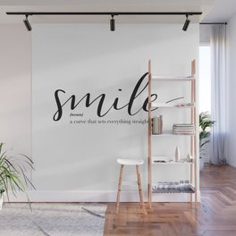 Smile Quote Definition Wall Mural