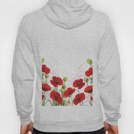 Poppy Mohn Flower Field Hoody